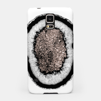 Thumbnail image of Gray Black White Agate with Rose Gold Glitter #5 #gem #decor #art  Handyhülle für Samsung, Live Heroes