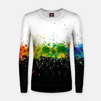 Thumbnail image of Paint Splashes Women sweater, Live Heroes