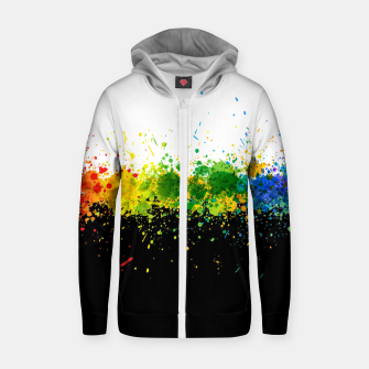 Thumbnail image of Paint Splashes Zip up hoodie, Live Heroes
