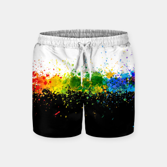Thumbnail image of Paint Splashes Swim Shorts, Live Heroes