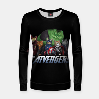 Thumbnail image of Catvengers Women sweater, Live Heroes
