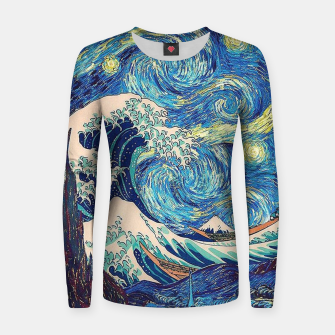 Thumbnail image of Starry Wave Women sweater, Live Heroes