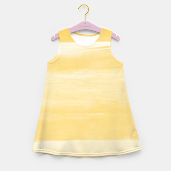 Thumbnail image of Yellow Watercolor Abstract Minimalism #1 #minimal #painting #decor #art  Mädchen-Sommerkleid, Live Heroes