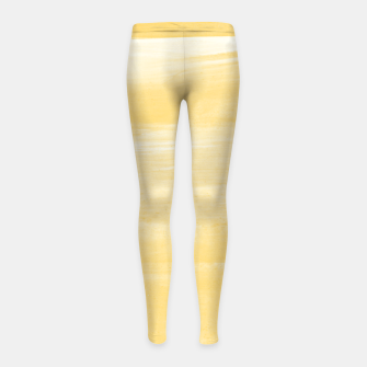 Thumbnail image of Yellow Watercolor Abstract Minimalism #1 #minimal #painting #decor #art  Kinder-Leggins, Live Heroes