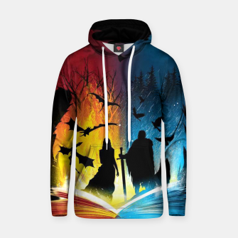 Thumbnail image of Book of Fire and Ice Hoodie, Live Heroes