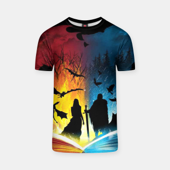 Thumbnail image of Book of Fire and Ice T-shirt, Live Heroes
