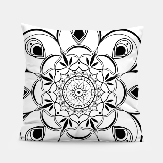 Thumbnail image of Black and White Mandala III Pillow, Live Heroes