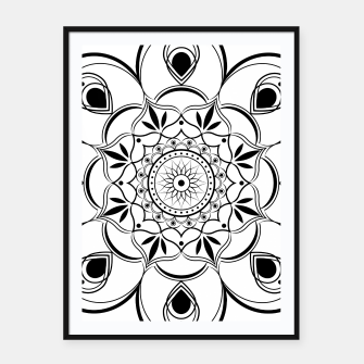 Thumbnail image of Black and White Mandala III Framed poster, Live Heroes