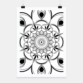 Thumbnail image of Black and White Mandala III Poster, Live Heroes