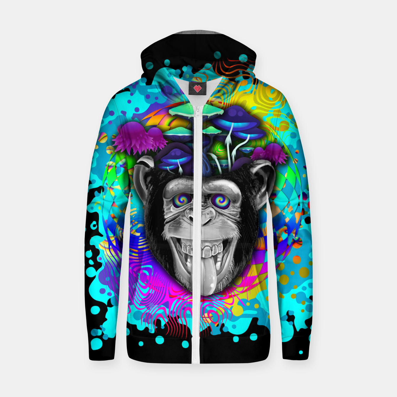 Image of STONED APE THEORY Sudadera con capucha y cremallera  - Live Heroes