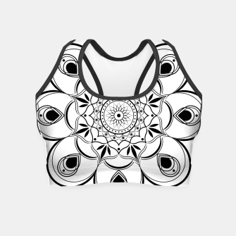 Thumbnail image of Black and White Mandala III Crop Top, Live Heroes