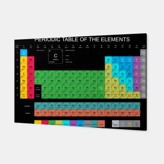 Thumbnail image of Periodic Table of The Elements Mendeleev Canvas, Live Heroes