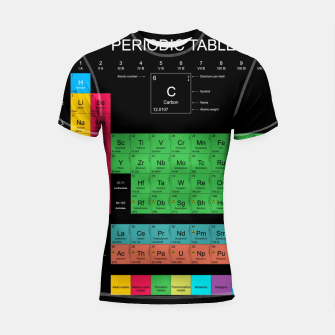 Thumbnail image of Periodic Table of The Elements Mendeleev Rashguard krótki rękaw, Live Heroes