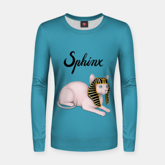 Thumbnail image of Sphinx (Blue) Women sweater, Live Heroes