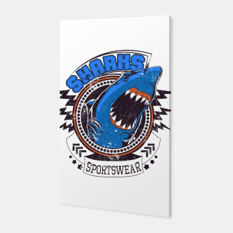 the Hungry Shark Sport Wear Canvas obraz miniatury