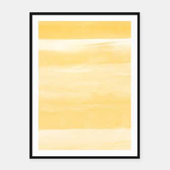 Thumbnail image of Yellow Watercolor Abstract Minimalism #1 #minimal #painting #decor #art  Plakat mit rahmen, Live Heroes