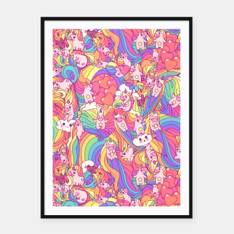 Thumbnail image of Unicorns Framed poster, Live Heroes