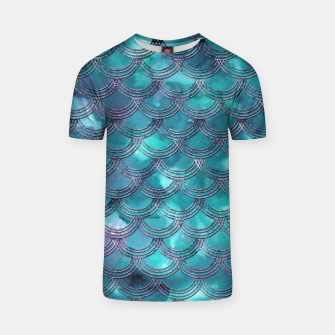 Teal Purple Mermaid Scales Glam #1 #shiny #decor #art T-Shirt obraz miniatury