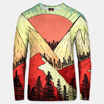 Miniatur Retro mountain hills Unisex sweater, Live Heroes