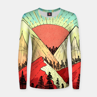 Miniatur Retro mountain hills Women sweater, Live Heroes