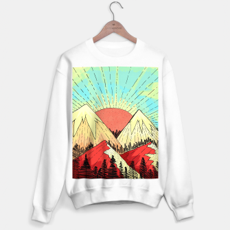 Miniatur Retro mountain hills Sweater regular, Live Heroes