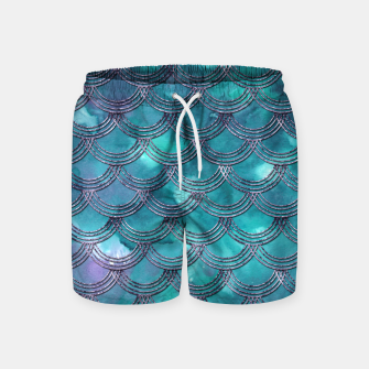 Teal Purple Mermaid Scales Glam #1 #shiny #decor #art Badeshorts obraz miniatury
