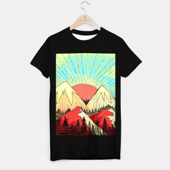 Miniatur Retro mountain hills T-shirt regular, Live Heroes
