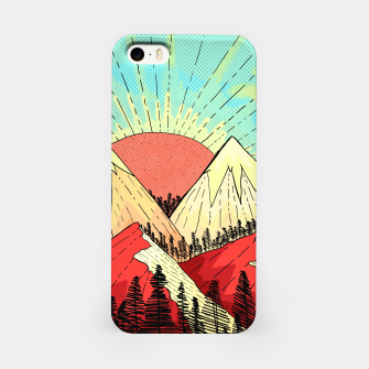 Miniatur Retro mountain hills iPhone Case, Live Heroes