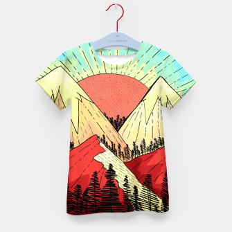 Miniatur Retro mountain hills Kid's t-shirt, Live Heroes