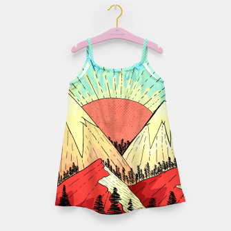 Miniatur Retro mountain hills Girl's dress, Live Heroes