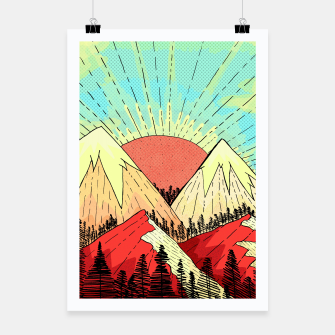 Thumbnail image of Retro mountain hills Poster, Live Heroes