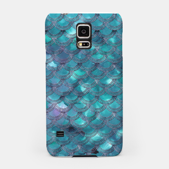 Teal Purple Mermaid Scales Glam #1 #shiny #decor #art Handyhülle für Samsung obraz miniatury