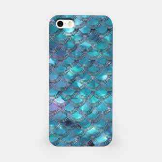 Teal Purple Mermaid Scales Glam #1 #shiny #decor #art iPhone-Hülle obraz miniatury
