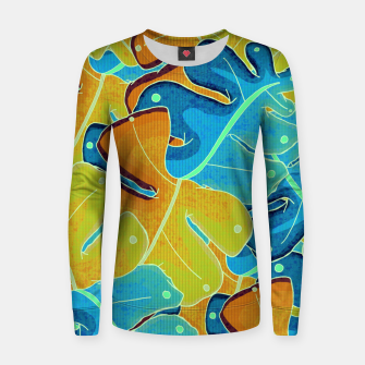 Thumbnail image of Summer leaves Women sweater, Live Heroes