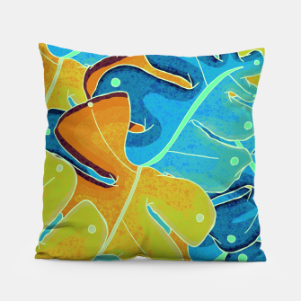Thumbnail image of Summer leaves Pillow, Live Heroes