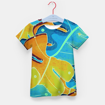 Thumbnail image of Summer leaves Kid's t-shirt, Live Heroes