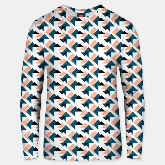 Pink And Blue Triangles Unisex sweater thumbnail image