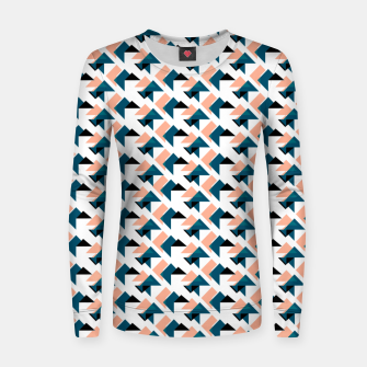 Pink And Blue Triangles Women sweater thumbnail image