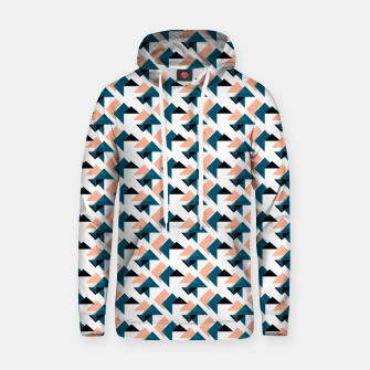 Pink And Blue Triangles Hoodie thumbnail image