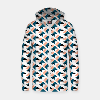 Pink And Blue Triangles Zip up hoodie thumbnail image