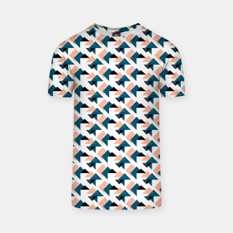 Pink And Blue Triangles T-shirt thumbnail image
