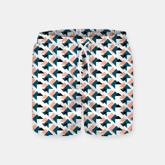 Pink And Blue Triangles Swim Shorts thumbnail image