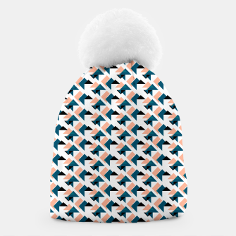 Pink And Blue Triangles Beanie thumbnail image