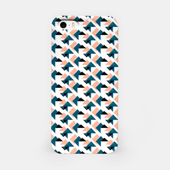 Pink And Blue Triangles iPhone Case thumbnail image