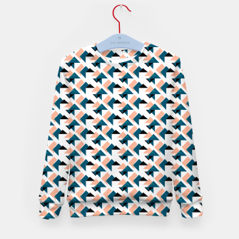 Pink And Blue Triangles Kid's sweater thumbnail image
