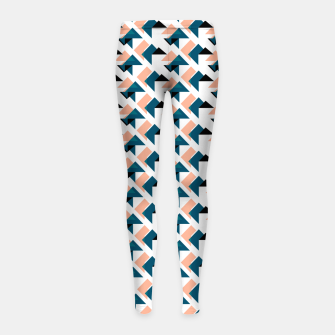 Pink And Blue Triangles Girl's leggings thumbnail image