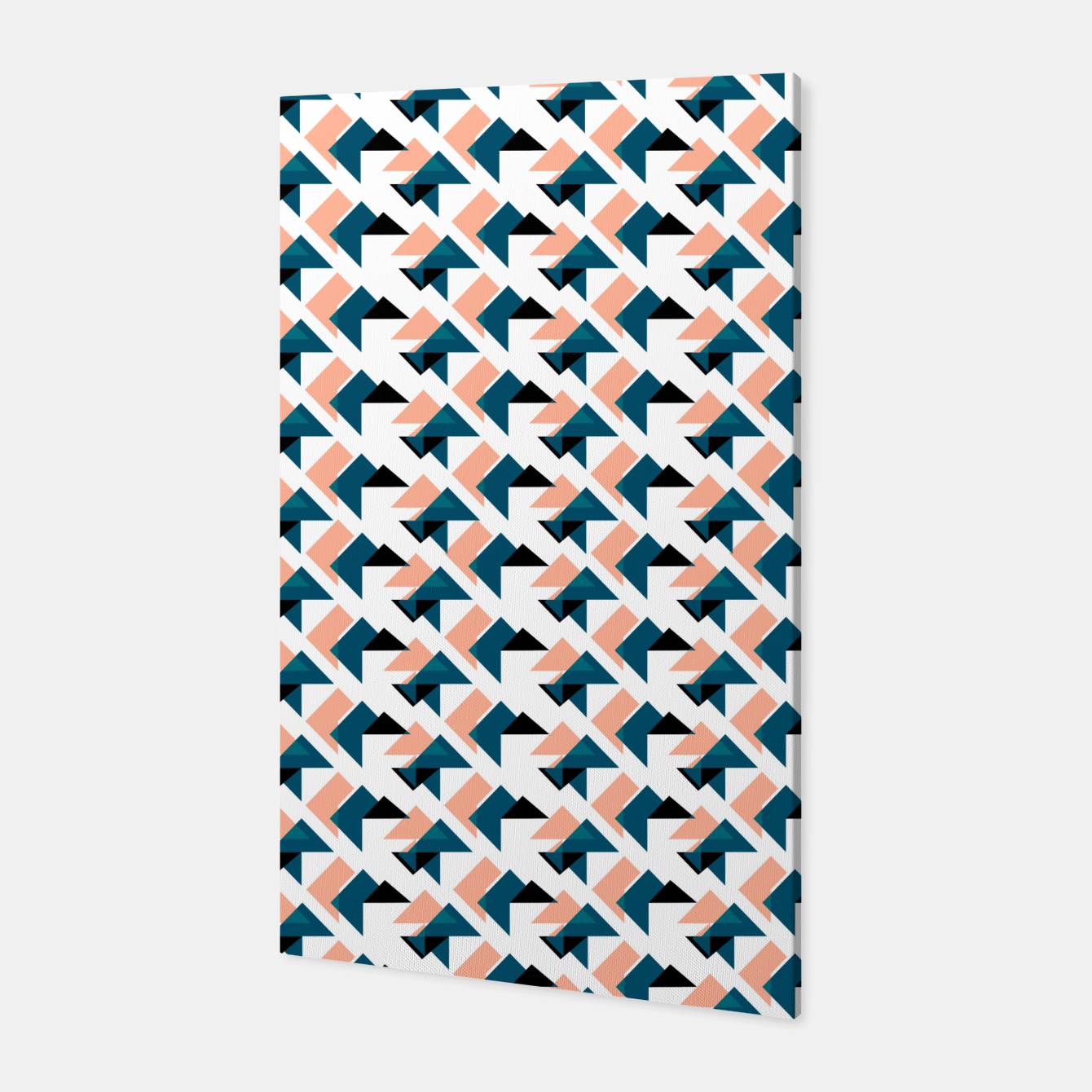 Image of Pink And Blue Triangles Canvas - Live Heroes