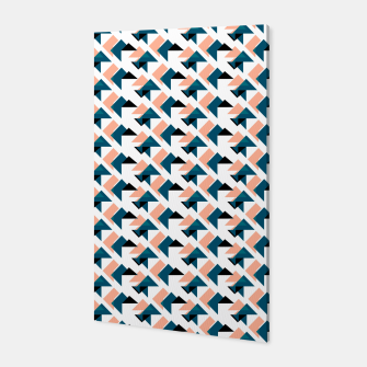 Pink And Blue Triangles Canvas thumbnail image