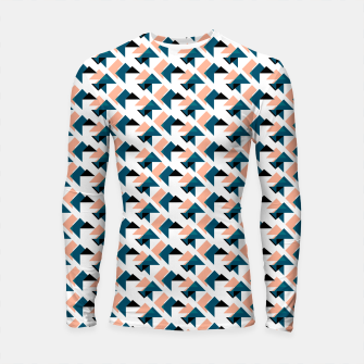 Thumbnail image of Pink And Blue Triangles Longsleeve rashguard , Live Heroes