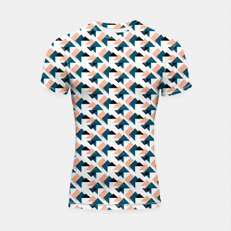 Thumbnail image of Pink And Blue Triangles Shortsleeve rashguard, Live Heroes